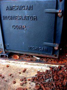 cast iron incinerator door